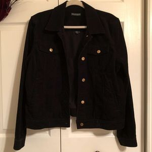 *sale* Black Corduroy Lauren Jeans co jacket